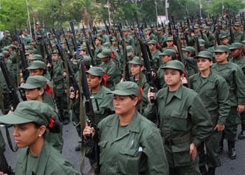 Milícia Nacional Bolivariana - 60 batalhões deste engendro já funcionam em Caracas